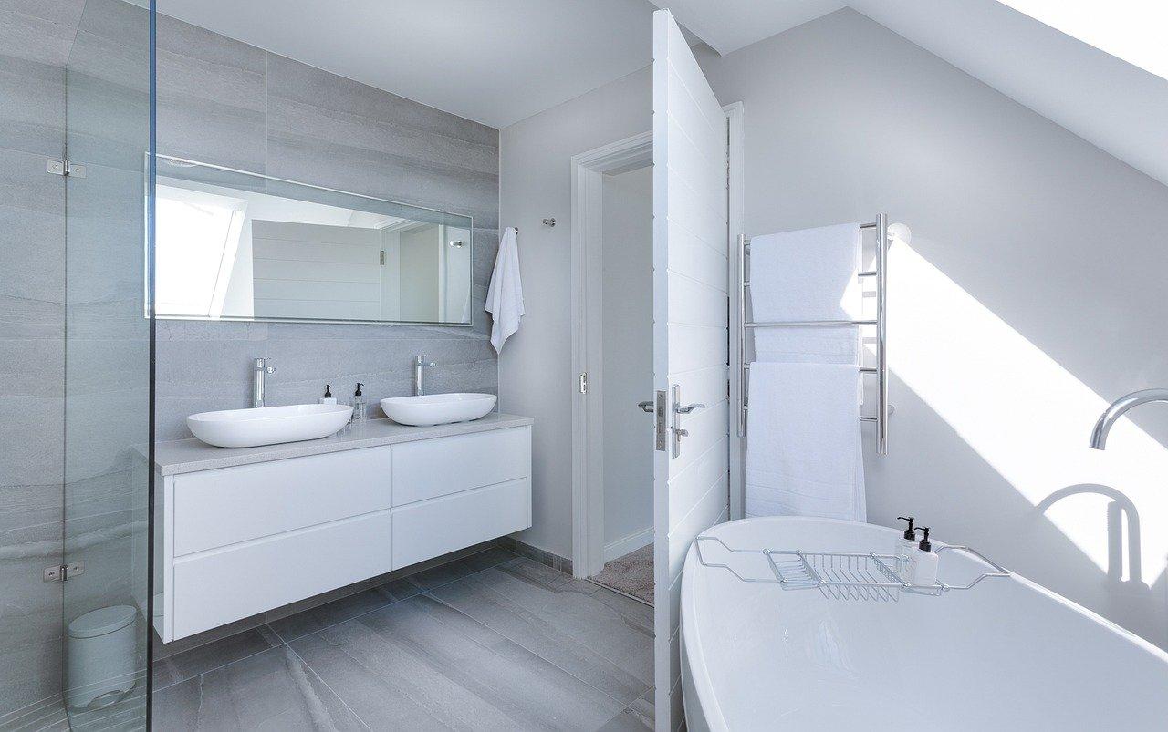 Plaques de plâtre salle de bains